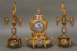 19th Century French Ormolu and Enamel Mantle Clock