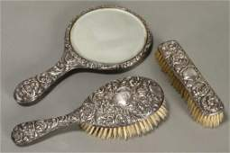 George V Sterling Silver Dressing Table Set