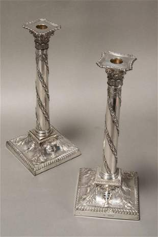 Magnificent Pair of Late Victorian Sterling Silver