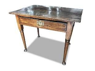 Lovely Georgian Oak Side Table,