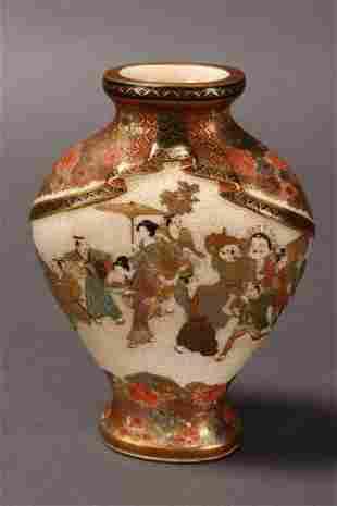 Fine Satsuma Vase,