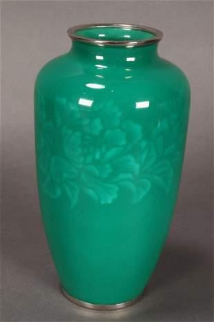 Stunning Japanese Enamel Vase,