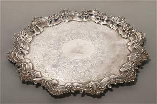 English Sterling Silver Salver,