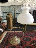 Victorian Brass Student's Lamp,