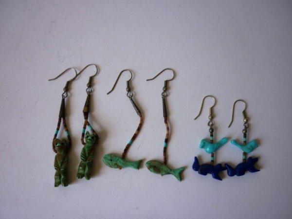 1: Three Pairs of Fetish Earrings