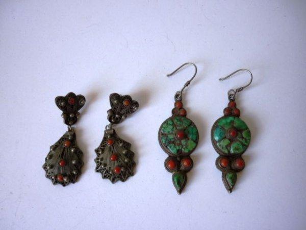 3: Pair of Navajo Drop Earrings,