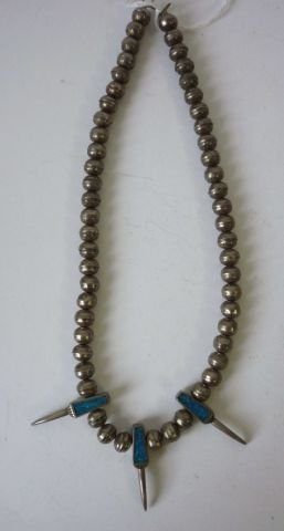 21: Mexican Silver & Turquoise Totem Necklace