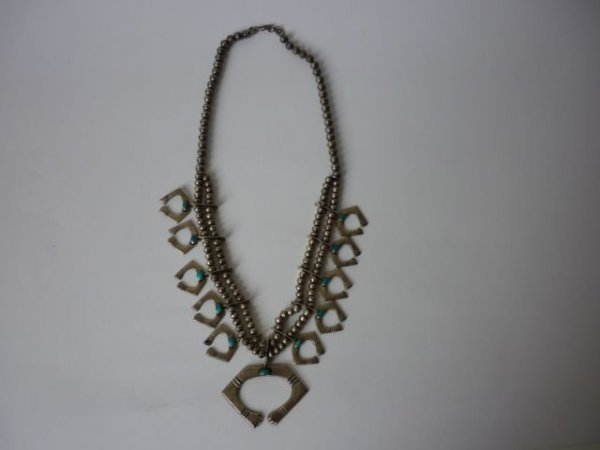 26: Silver & Turquoise Totem Necklace pre 1970