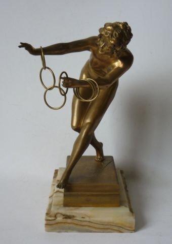 "382: Art Deco Bronze ""Les Cercles de Magie"", c.1920"