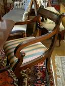 640: Set of Six Regency Style Dining Chairs and Two