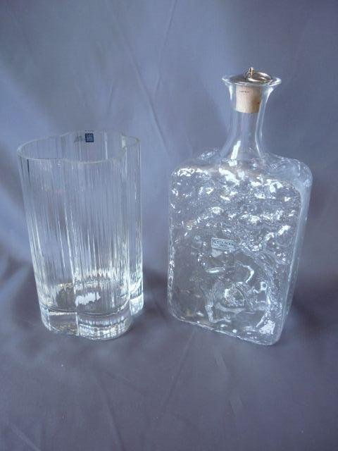 Kosta Boda Decanter, together with an Arabia