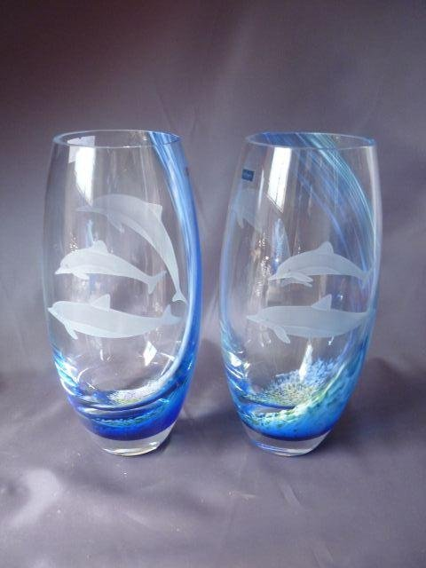 Pair of Caithness Glass Vases,