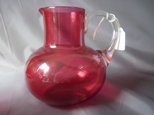 Late Victorian Ruby Glass Jug,