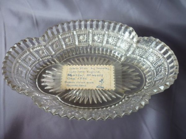 19th Century Sowerby Pressed Glass Dish,