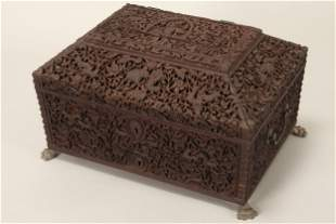 Wonderful 19th Century Anglo-Indian Sewing Box,