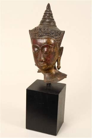 17th/18th Century Thai Bronze Buddha Head,