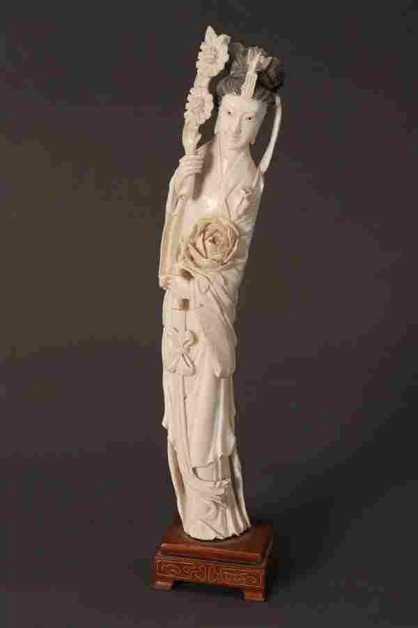 Large Chinese Figure of Kwan Yin,