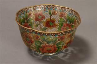 Chinese Plique du Jour Bowl,