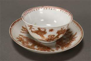 Chinese Qing Dynasty Porcelain Tea Bowl and Saucer
