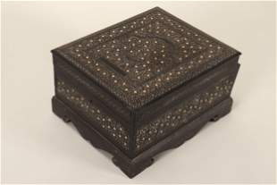 19th Century Colonial Indian Ebony Grooming Box,