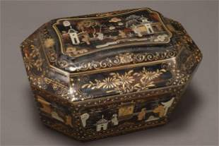 Chinese Lacquer Box and Cover,