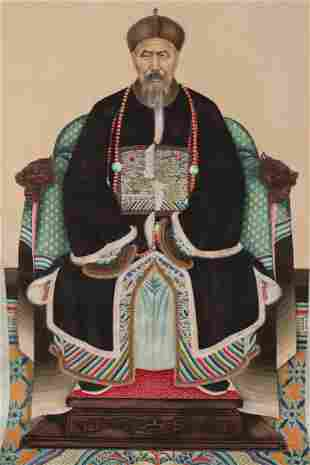 Delightful Chinese Ancestral Portrait,