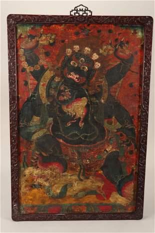 Good Sino-Tibetan Thangka,