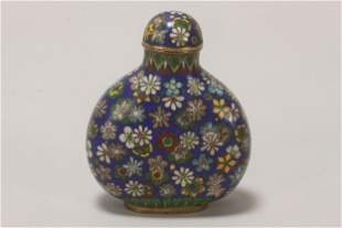 Chinese Cloisonne Snuff Bottle,