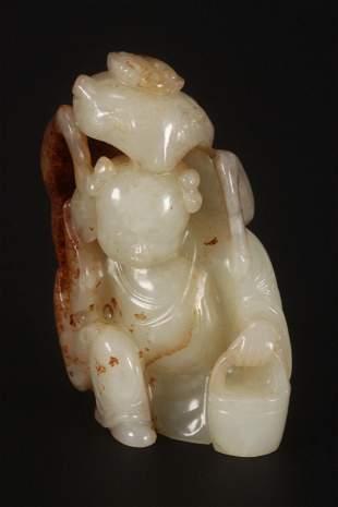 Chinese Jade Figure Group,