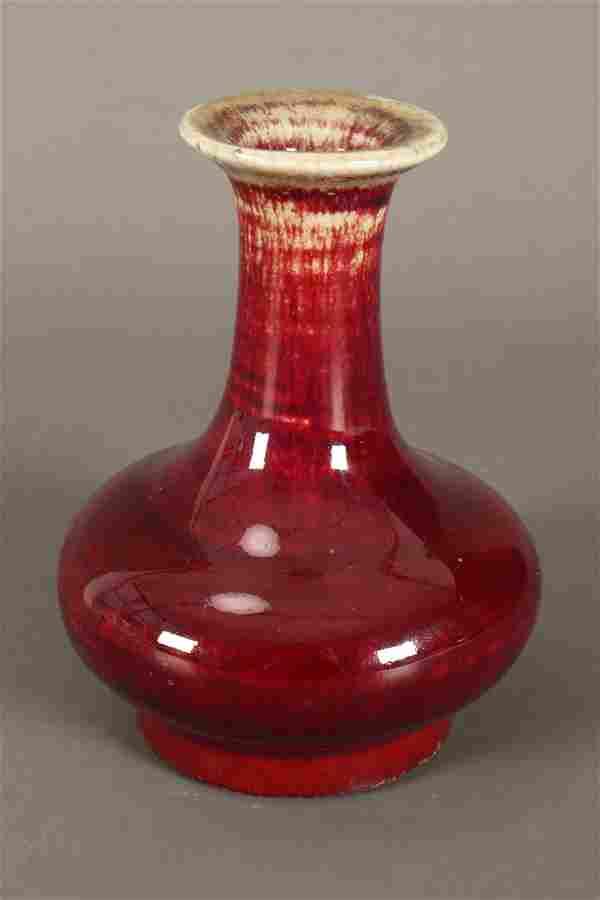 Chinese Petit Flambe Glaze Vase,