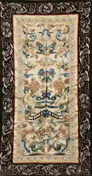 Framed Chinese Embroidered Textile,