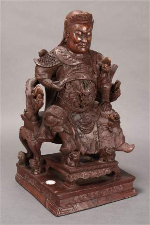 Chinese Carved Wooden Figure,