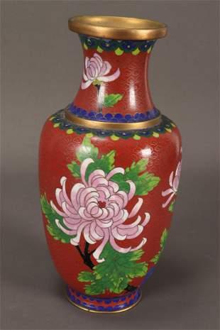 Chinese Cloisonne Vase,