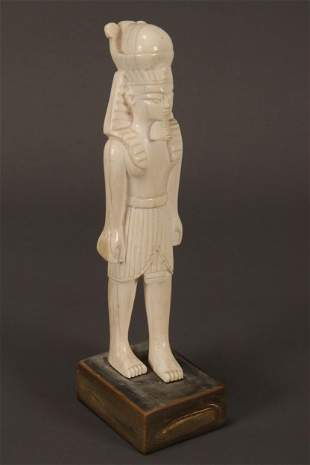 Carved Figure of a Pharaoh,
