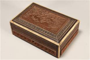 Early 20th Century Indian Sandalwood Box and Cover,