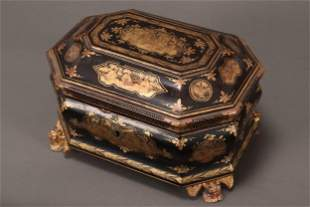Chinese Export Ware Tea Caddy,