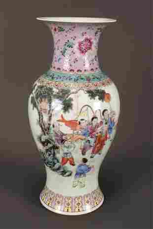 Chinese Polychrome Porcelain Vase,
