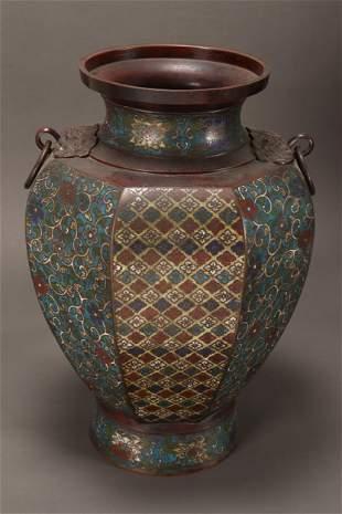 Large Chinese Cloisonne Vase,