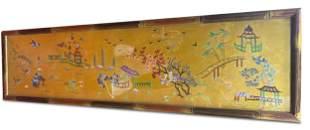 Chinese Framed Silk Tapestry,