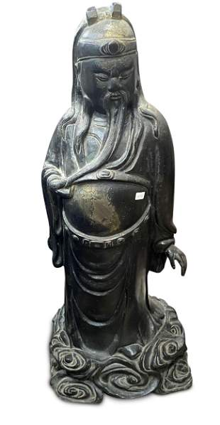 Large Chinese Bronze Figure of Immortal,