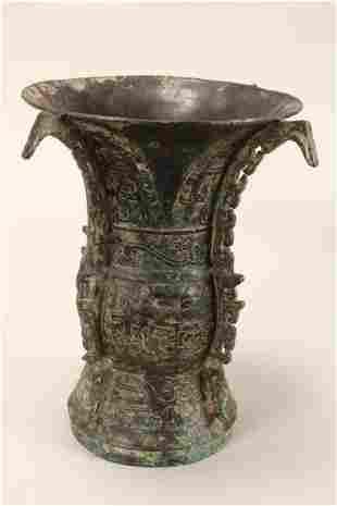 Chinese Archaic Style Gu Vase,
