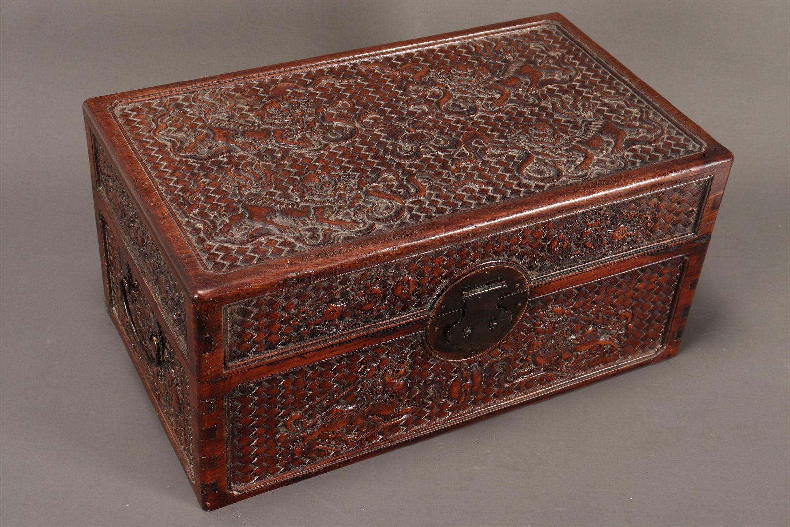Chinese Hardwood Documents Box,