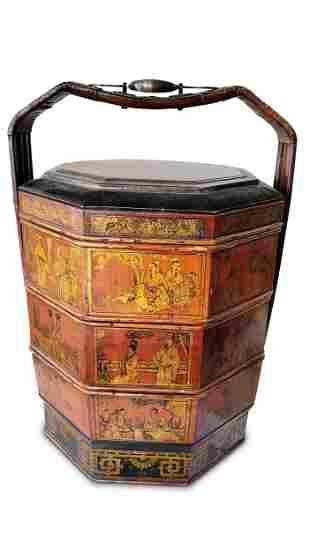 Large Chinese Four Tier Wedding Basket,