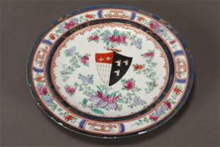 Chinese Export Ware Porcelain Plate,