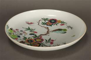 Chinese Late Qing Dynasty Export Porcelain Plate,