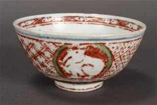 Chinese Ming Dynasty Swatow Porcelain Bowl,