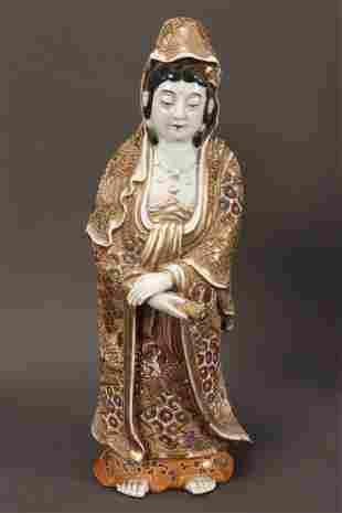 Satsuma Porcelain Figure of Kwan Yin,