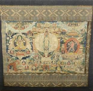 Large Tibetan Thangka,