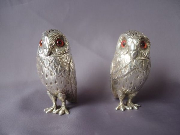 Pair of Victorian Sterling Silver Salt and Pepper