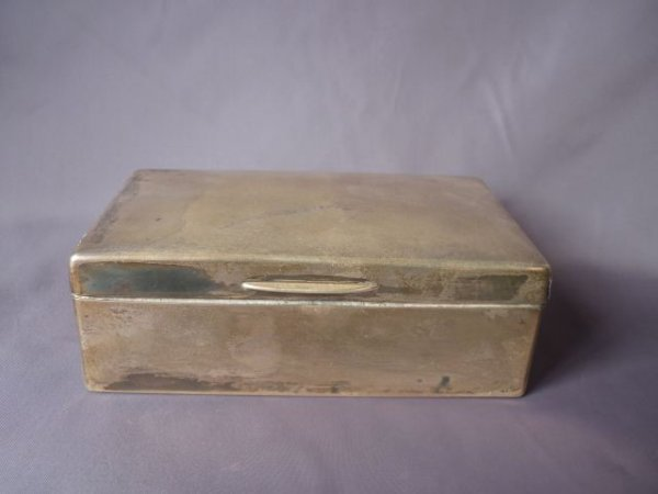 Edwardian Sterling Silver Table Cigarette Box,